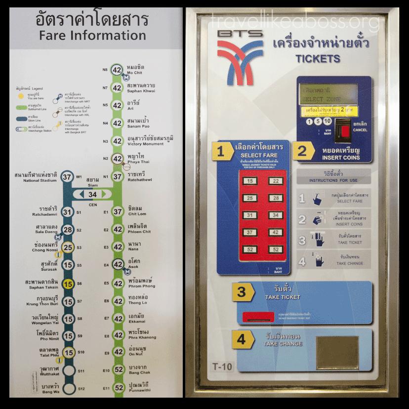 Hướng dẫn mua vé BTS Phaya Thai