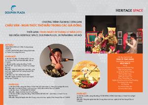 Chương trình âm nhạc dân gian: Chầu văn nghi thức thờ mẫu trong các giá đồng