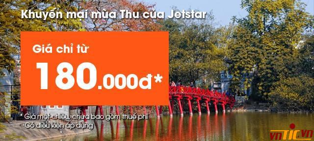Khuyến mãi mùa thu của Jetstar