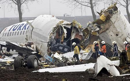 Chiếc máy bay chở khách Thổ Nhĩ Kỳ rơi